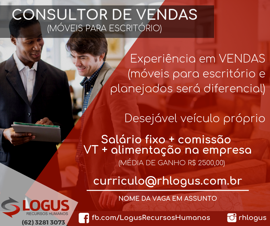 Consultor de Vendas (móveis para escritório)