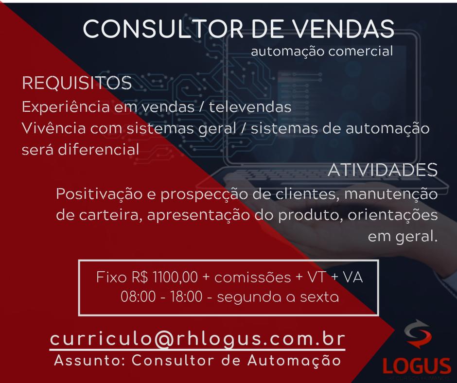 Consultor de Vendas - Automação Comercial