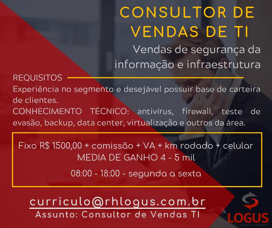 Consultor de Vendas (Tecnologia da Informação)