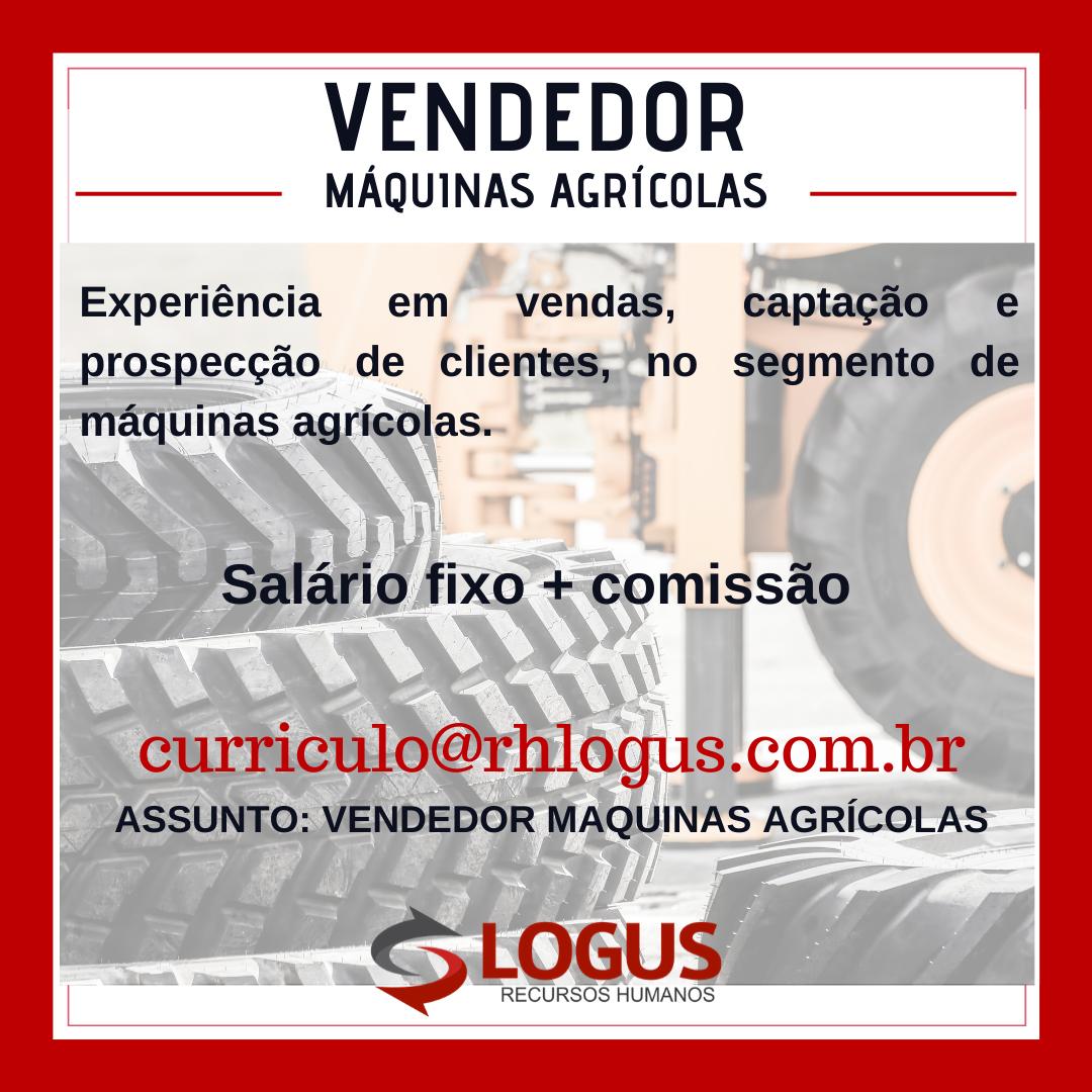 Vendedor de Máquinas Agrícolas